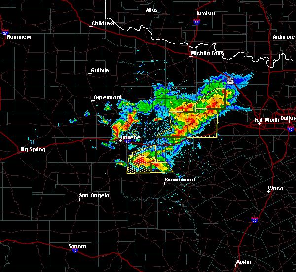 Radar Image for Severe Thunderstorms near Cross Plains, TX at 5/11/2016 8:44 PM CDT