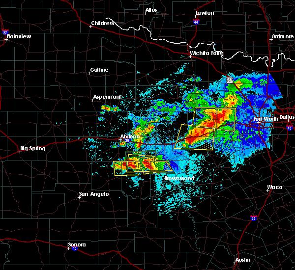 Radar Image for Severe Thunderstorms near Cross Plains, TX at 5/11/2016 9:31 PM CDT