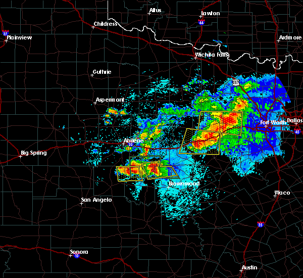 Radar Image for Severe Thunderstorms near Cross Plains, TX at 5/11/2016 9:40 PM CDT