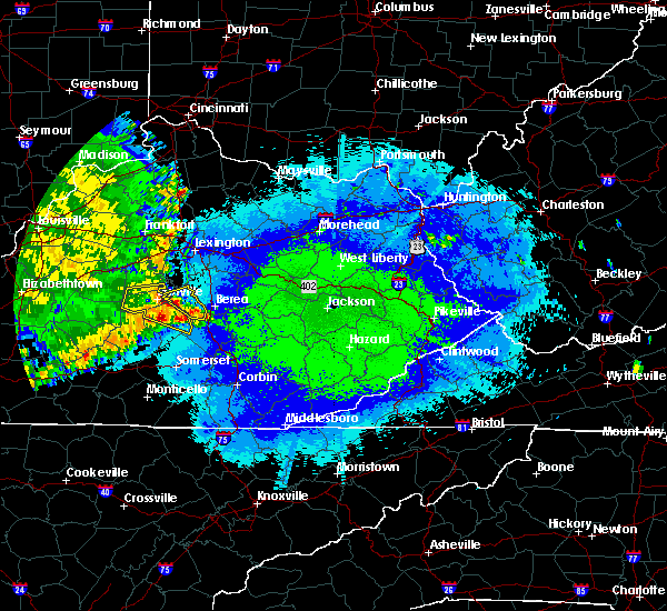 Radar Image for Severe Thunderstorms near Lancaster, KY at 5/11/2016 10:44 PM EDT