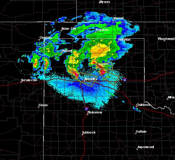 Radar Image for Severe Thunderstorms near White Deer, TX at 5/11/2016 9:57 PM CDT