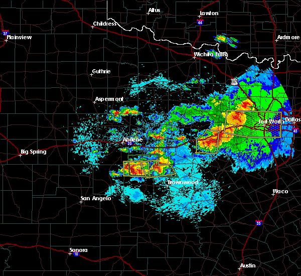 Radar Image for Severe Thunderstorms near Cross Plains, TX at 5/11/2016 10:03 PM CDT