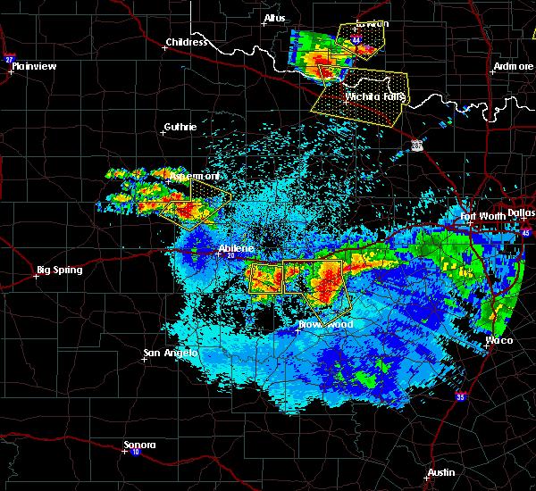 Radar Image for Severe Thunderstorms near Cross Plains, TX at 5/12/2016 2:41 AM CDT