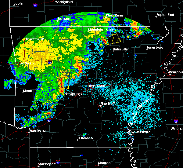 Radar Image for Severe Thunderstorms near Mount Pleasant, AR at 5/12/2016 6:13 AM CDT
