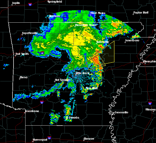 Radar Image for Severe Thunderstorms near Bradford, AR at 5/12/2016 7:53 AM CDT