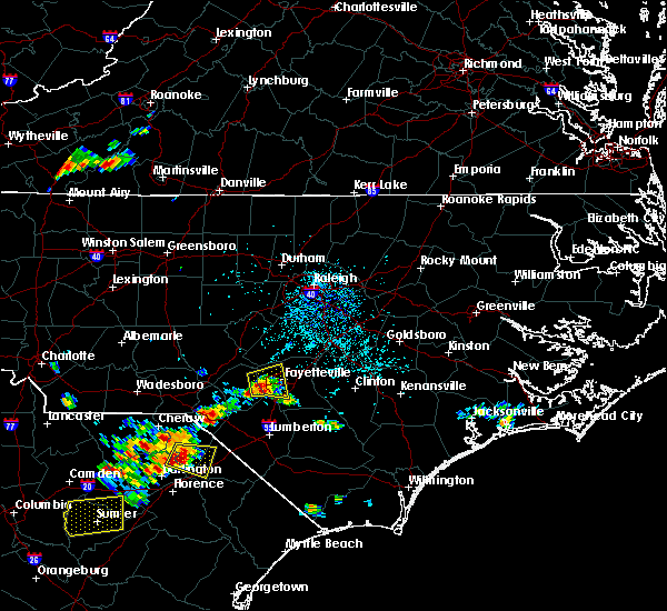 Radar Image for Severe Thunderstorms near Hope Mills, NC at 5/12/2016 2:21 PM EDT