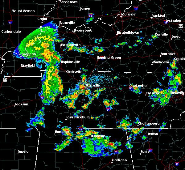 Radar Image for Severe Thunderstorms near Nashville, TN at 5/12/2016 1:35 PM CDT