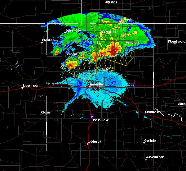 Radar Image for Severe Thunderstorms near Stinnett, TX at 5/16/2016 7:52 PM CDT