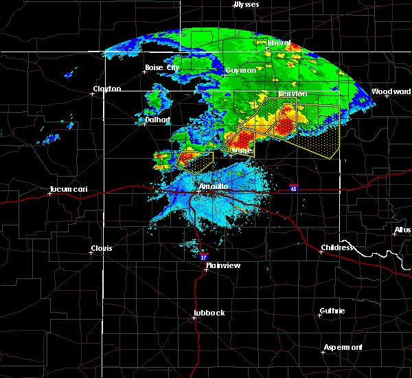 Radar Image for Severe Thunderstorms near Stinnett, TX at 5/16/2016 8:36 PM CDT