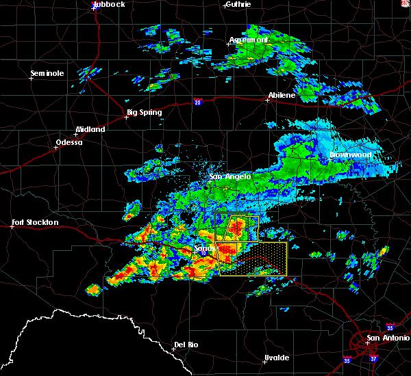 Radar Image for Severe Thunderstorms near Junction, TX at 5/17/2016 7:18 PM CDT