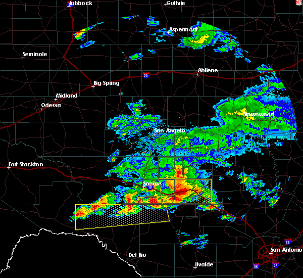 Radar Image for Severe Thunderstorms near Junction, TX at 5/17/2016 7:48 PM CDT