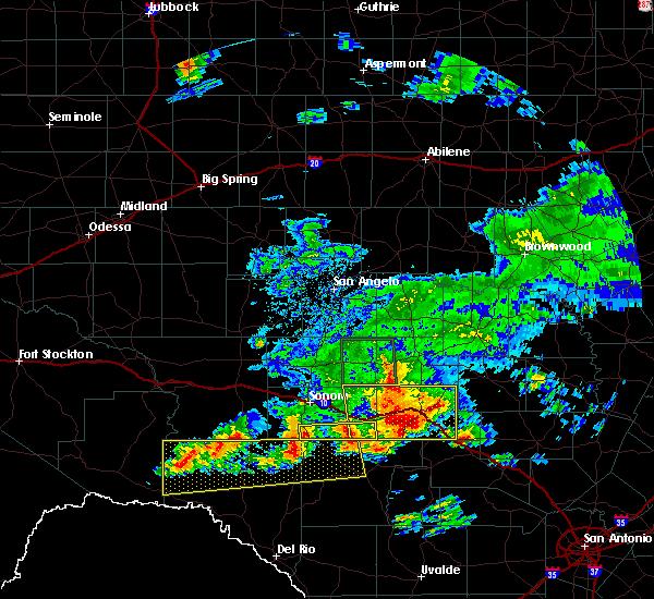 Radar Image for Severe Thunderstorms near Junction, TX at 5/17/2016 8:03 PM CDT