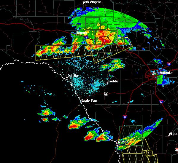 Radar Image for Severe Thunderstorms near Harper, TX at 5/17/2016 8:15 PM CDT