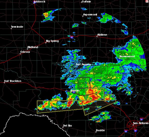 Radar Image for Severe Thunderstorms near Junction, TX at 5/17/2016 8:15 PM CDT