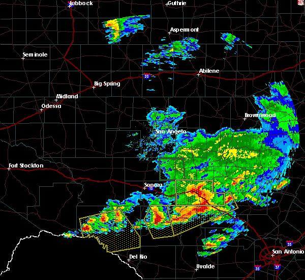 Radar Image for Severe Thunderstorms near Junction, TX at 5/17/2016 8:48 PM CDT
