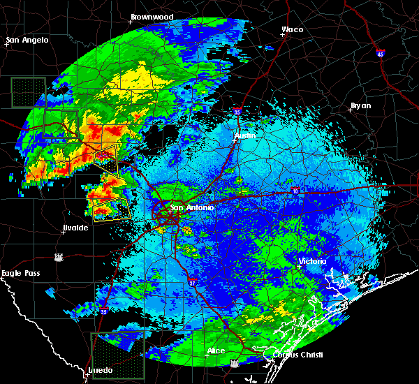 Radar Image for Severe Thunderstorms near Ingram, TX at 5/17/2016 9:37 PM CDT