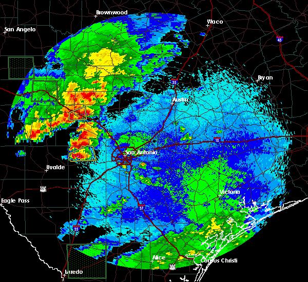 Radar Image for Severe Thunderstorms near Ingram, TX at 5/17/2016 9:47 PM CDT