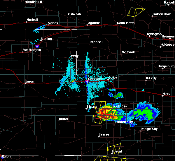 Radar Image for Severe Thunderstorms near Marienthal, KS at 5/22/2016 7:55 PM CDT