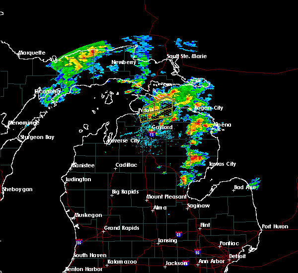 Radar Image for Severe Thunderstorms near Au Sable, MI at 5/26/2016 5:20 PM EDT