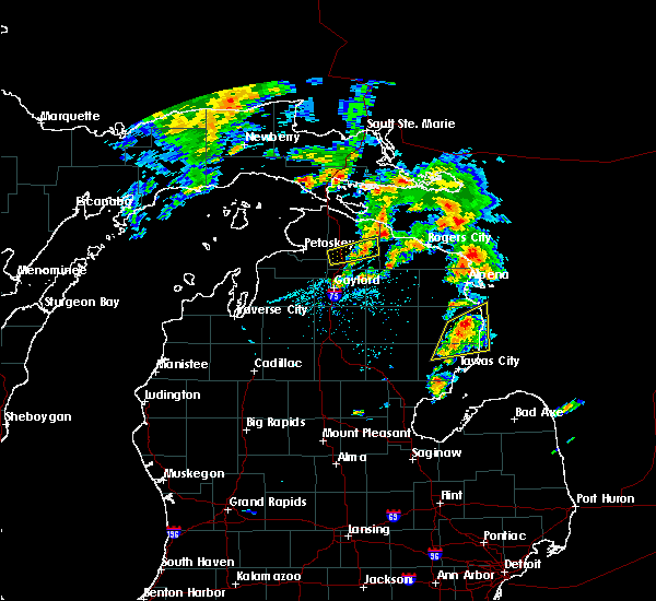Radar Image for Severe Thunderstorms near Au Sable, MI at 5/26/2016 5:47 PM EDT