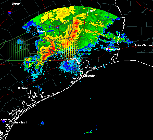 Radar Image for Severe Thunderstorms near Tomball, TX at 5/27/2016 4:14 AM CDT