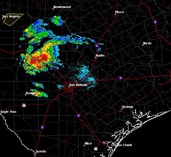 Radar Image for Severe Thunderstorms near Ingram, TX at 5/28/2016 8:49 PM CDT