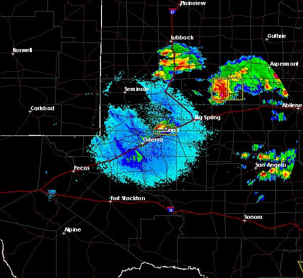 Radar Image for Severe Thunderstorms near Stanton, TX at 5/28/2016 10:20 PM CDT