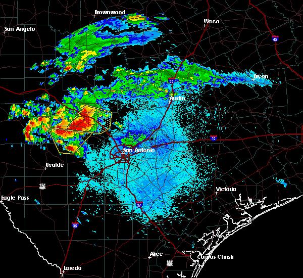 Radar Image for Severe Thunderstorms near Ingram, TX at 5/28/2016 10:24 PM CDT