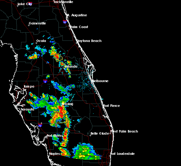 Radar Image for Severe Thunderstorms near Sorrento, FL at 5/29/2016 6:00 PM EDT