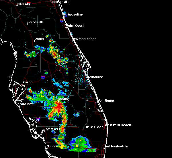 Radar Image for Severe Thunderstorms near Sorrento, FL at 5/29/2016 6:14 PM EDT