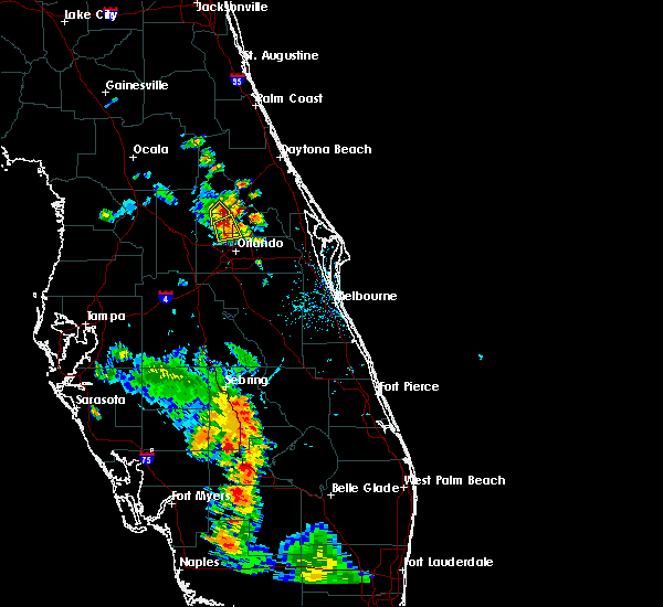 Radar Image for Severe Thunderstorms near Wekiwa Springs, FL at 5/29/2016 6:35 PM EDT