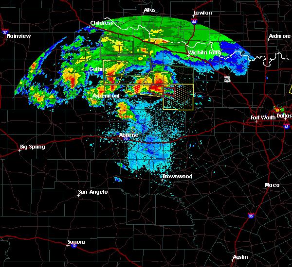 Radar Image for Severe Thunderstorms near Olney, TX at 5/29/2016 8:25 PM CDT