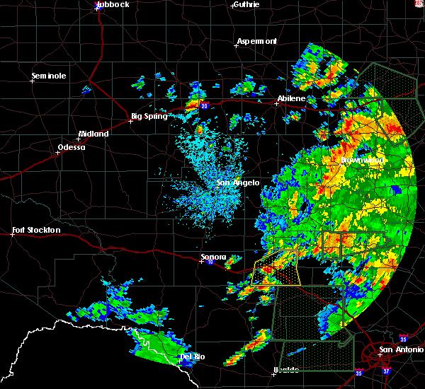Radar Image for Severe Thunderstorms near Junction, TX at 5/31/2016 2:13 PM CDT