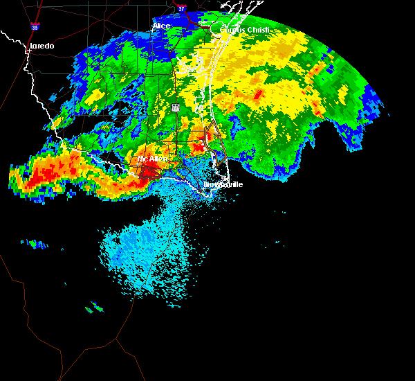 Radar Image for Severe Thunderstorms near Weslaco, TX at 6/1/2016 12:05 AM CDT
