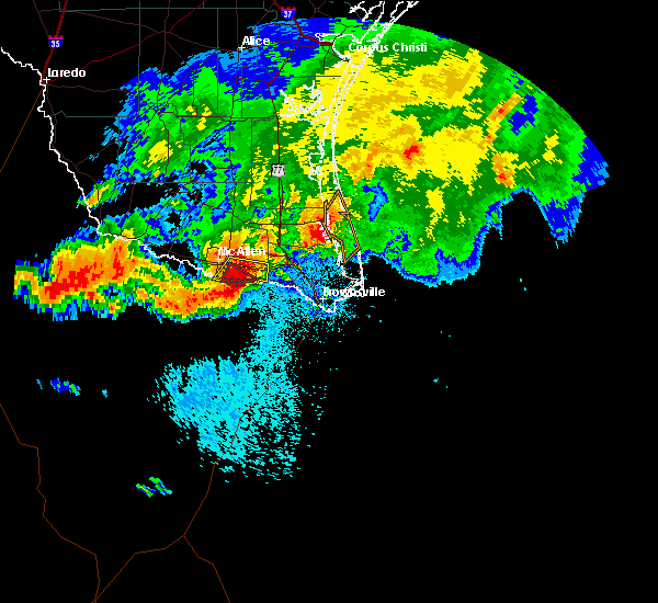 Radar Image for Severe Thunderstorms near Mercedes, TX at 6/1/2016 12:08 AM CDT