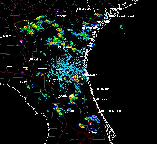 Radar Image for Severe Thunderstorms near Jacksonville, FL at 6/1/2016 5:05 PM EDT