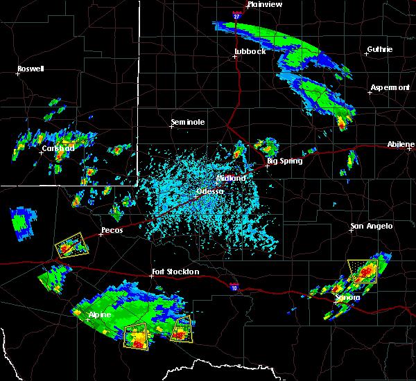 Radar Image for Severe Thunderstorms near Sanderson, TX at 6/1/2016 5:39 PM CDT