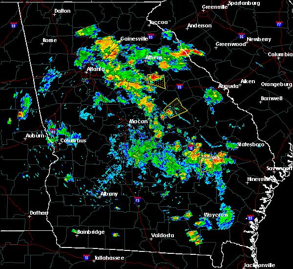 Radar Image for Severe Thunderstorms near Sandersville, GA at 6/1/2016 7:19 PM EDT