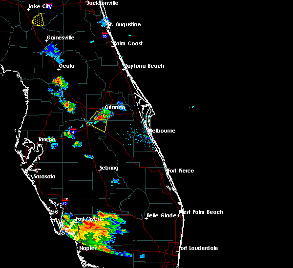 Radar Image for Severe Thunderstorms near Bay Hill, FL at 6/1/2016 7:30 PM EDT