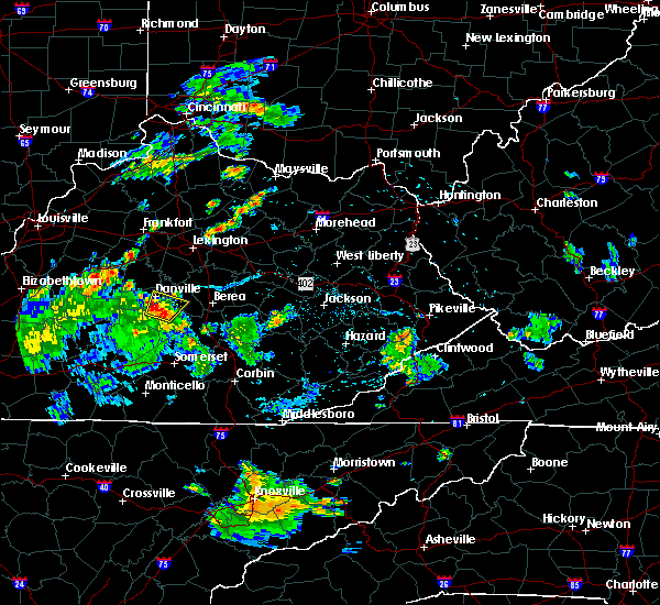 Radar Image for Severe Thunderstorms near Danville, KY at 6/1/2016 8:39 PM EDT
