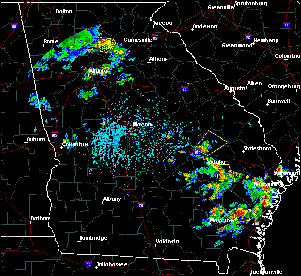 Radar Image for Severe Thunderstorms near Swainsboro, GA at 6/2/2016 4:21 PM EDT