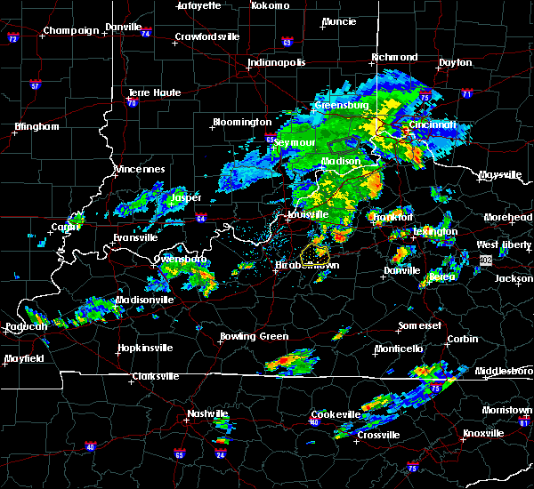 Radar Image for Severe Thunderstorms near Bloomfield, KY at 6/2/2016 5:28 PM EDT