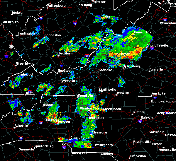 Radar Image for Severe Thunderstorms near Taylorsville, NC at 6/2/2016 5:56 PM EDT
