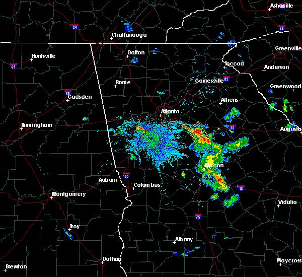 Radar Image for Severe Thunderstorms near Social Circle, GA at 6/2/2016 9:00 PM EDT