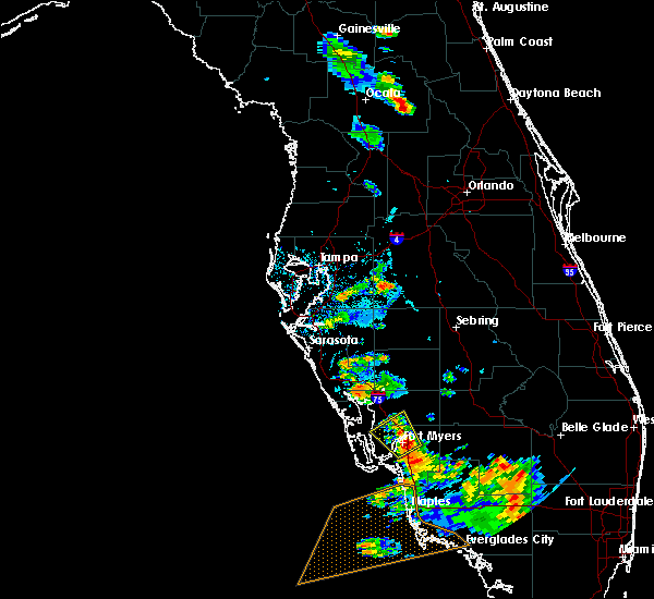 Radar Image for Severe Thunderstorms near Gateway, FL at 6/3/2016 7:09 PM EDT