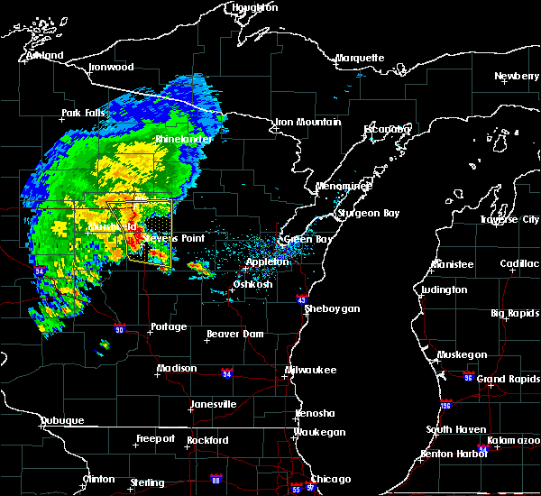 Radar Image for Severe Thunderstorms near Mosinee, WI at 6/3/2016 7:04 PM CDT