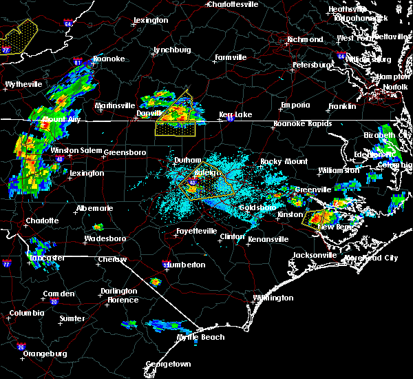 Radar Image for Severe Thunderstorms near South Boston, VA at 6/4/2016 7:41 PM EDT