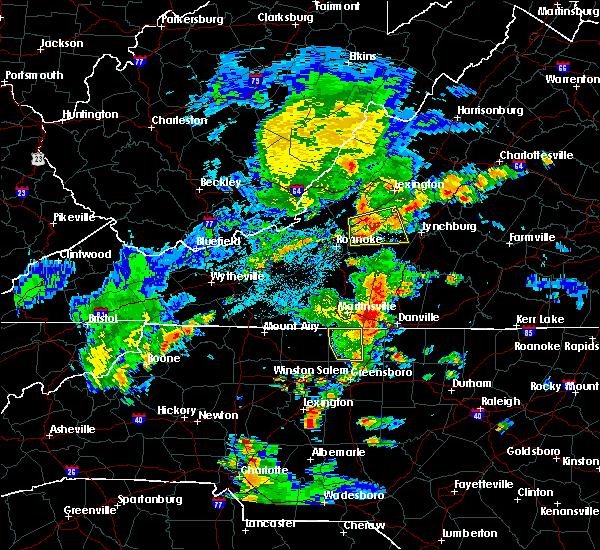 Radar Image for Severe Thunderstorms near Bedford, VA at 6/4/2016 9:34 PM EDT