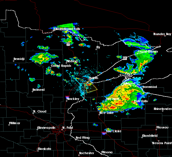 Radar Image for Severe Thunderstorms near Chief Lake, WI at 6/5/2016 2:34 PM CDT