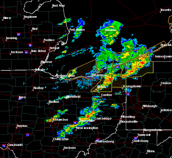 Radar Image for Severe Thunderstorms near South Canal, OH at 6/5/2016 4:04 PM EDT